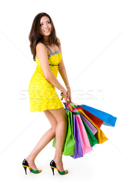 Glamorous shopper Stock photo © pressmaster