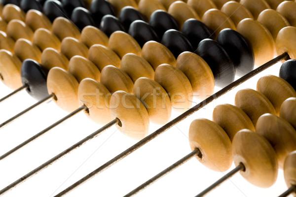 Boulier bois utilisé affaires métal Photo stock © pressmaster