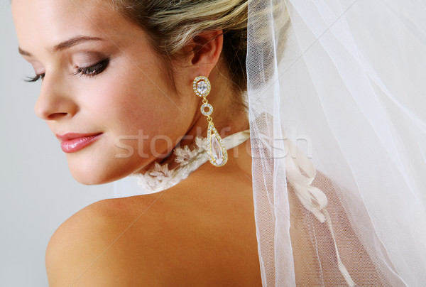 Oblubienicy portret dość stwarzające kobieta dziewczyna Zdjęcia stock © pressmaster