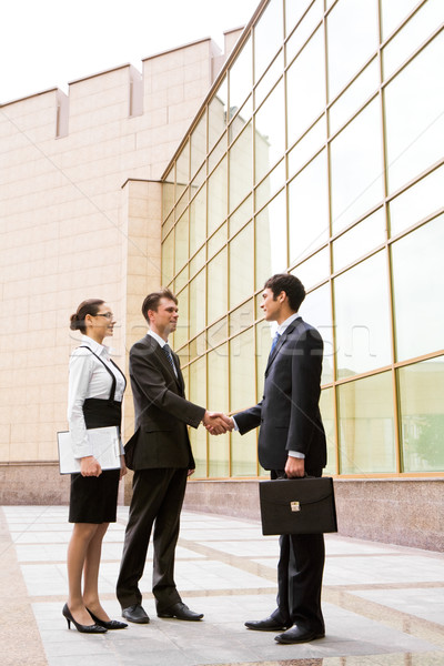 Сток-фото: дело · портрет · два · бизнесменов · рукопожатием