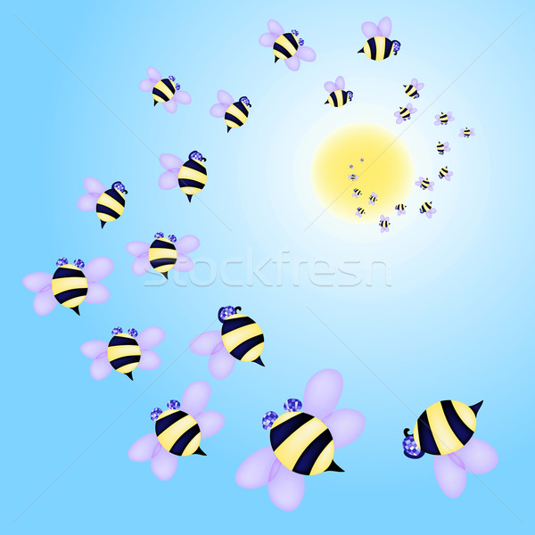 swarm-of-bees Stock photo © pressmaster