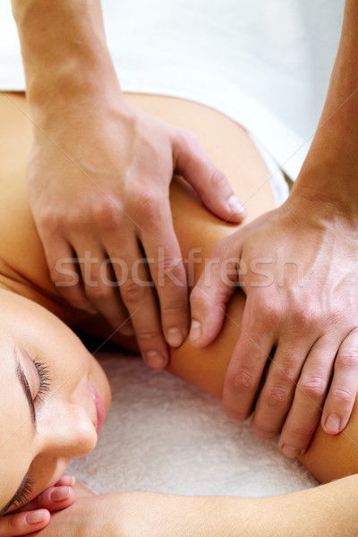 Having massage Stock photo © pressmaster