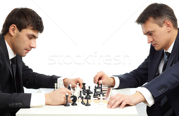 Pensive chessmen Stock photo © pressmaster