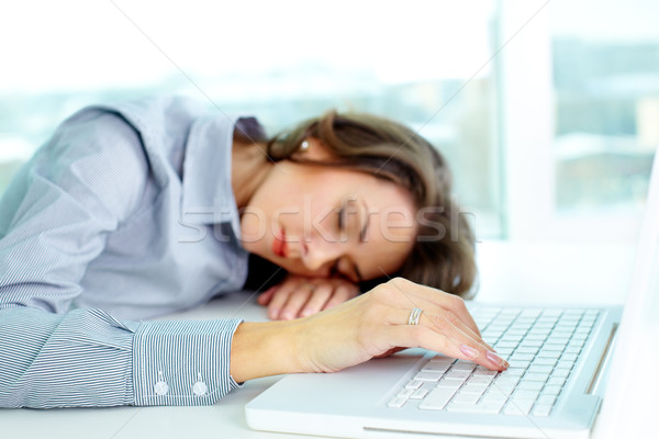 Sleeping business girl Stock photo © pressmaster
