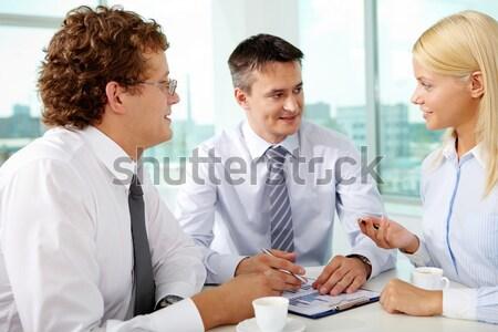 Hallgat háziorvos portré női beteg konzultáció Stock fotó © pressmaster