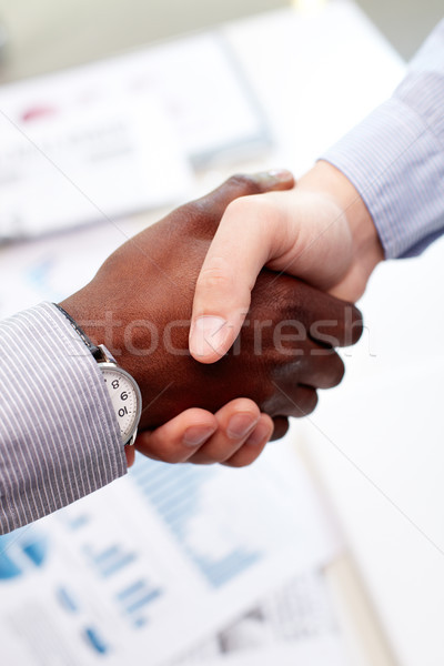 Firm handshake Stock photo © pressmaster