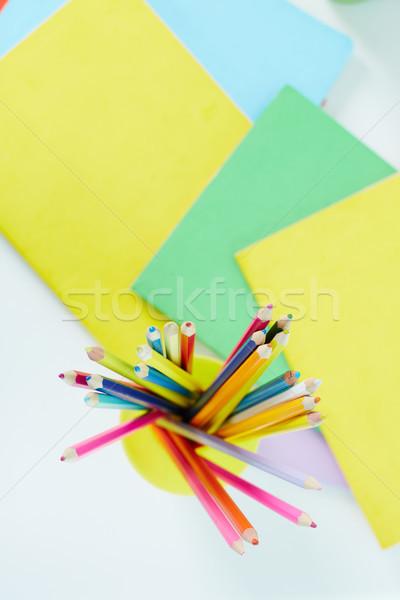 Bleistifte Heap farbenreich abstrakten Design Bleistift Stock foto © pressmaster