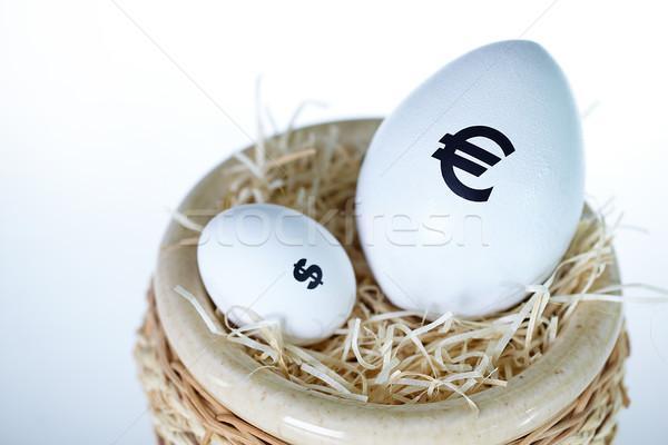 Stock fotó: Valuta · különbség · kép · nagy · tojás · Euro