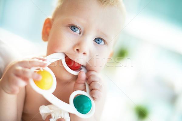 играет игрушку портрет небольшой мальчика детей Сток-фото © pressmaster