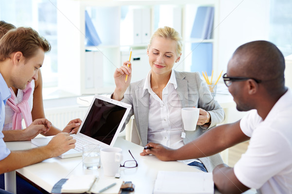 Stockfoto: Team · jonge · business · team · kantoor