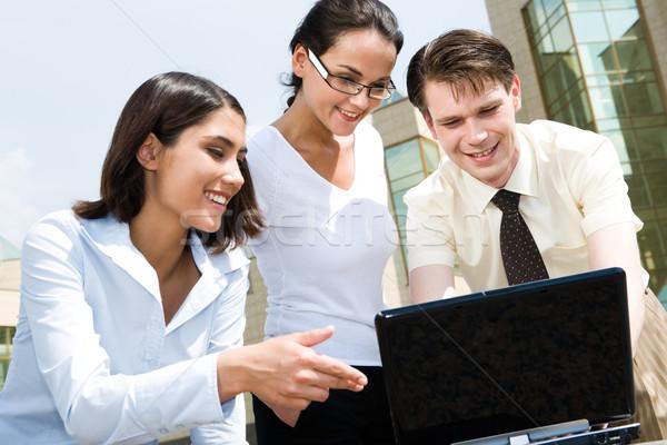 Stok fotoğraf: Bilgisayar · çalışmak · portre · grup · insanlar