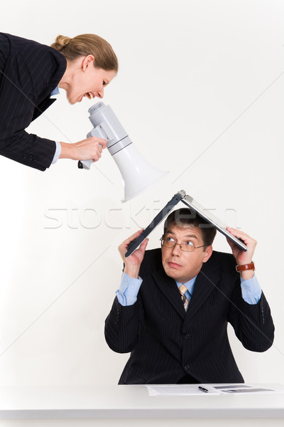 Huilen portret man laptop hoofd bang Stockfoto © pressmaster