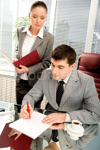 Signing documents Stock photo © pressmaster