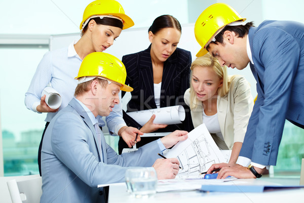 Stock photo: Architects at work