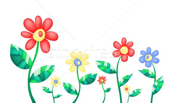 Colorat Flori De Vara Primăvară Abstract Grădină