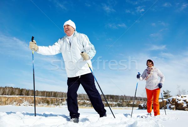 Skiing people Stock photo © pressmaster