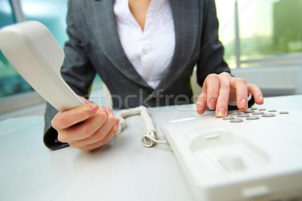 Work of secretary Stock photo © pressmaster