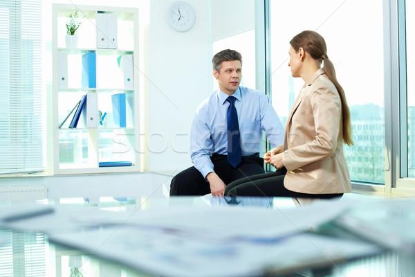 Stock photo: Business talk