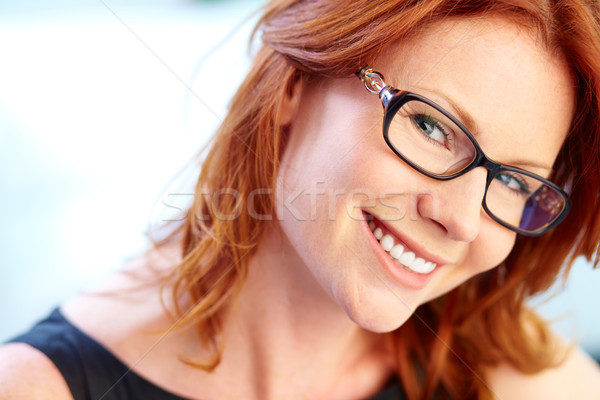 redhead lady wearing glasses is getting penetrated with passion  108158