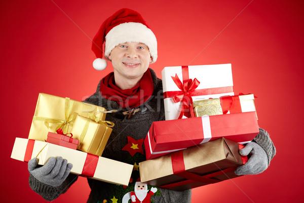Generoso retrato feliz hombre CAP Foto stock © pressmaster