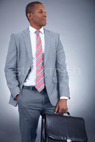человека портфель портрет успешный профессиональных костюм Сток-фото © pressmaster