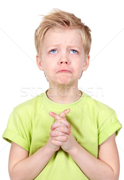Sevimli çocuk eller birlikte çocuk portre Stok fotoğraf © pressmaster