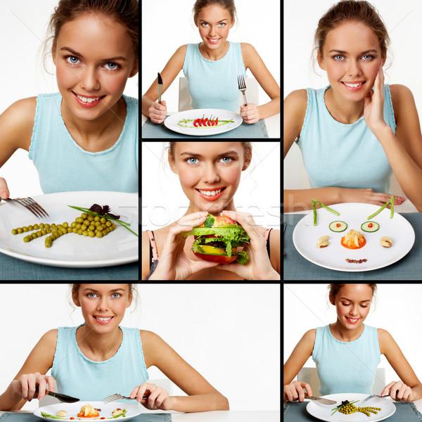 Young vegetarian Stock photo © pressmaster