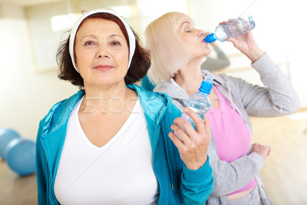 Woman with bottle of water Stock photo © pressmaster