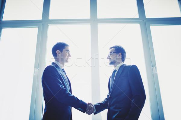 Stok fotoğraf: Imza · sözleşme · fotoğraf · başarılı · işadamları · iş