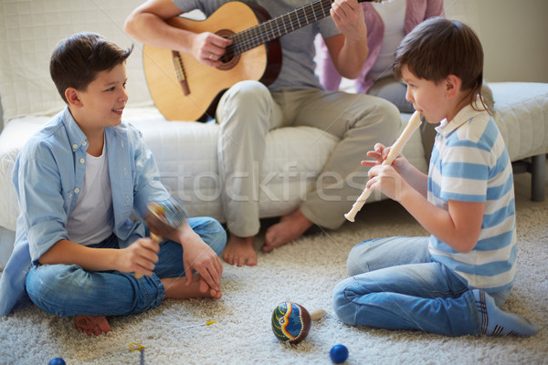 Playing musical instruments Stock photo © pressmaster