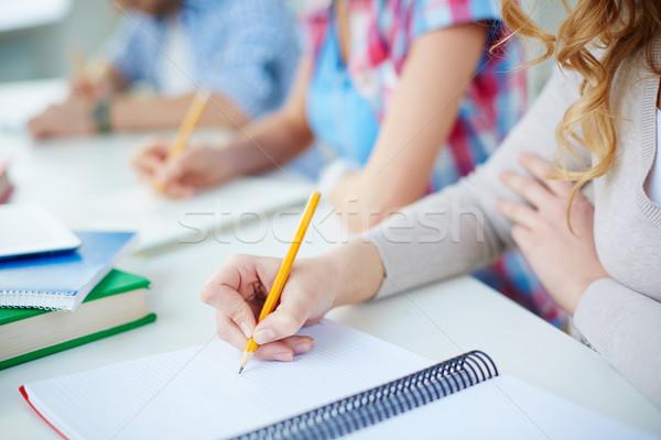 Iscritto lezione parecchi fuori scritto Foto d'archivio © pressmaster