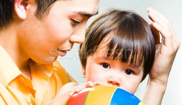 нежность любящий отец прикасаться мало Сток-фото © pressmaster
