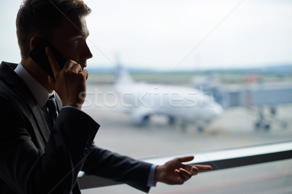 Calling in airport Stock photo © pressmaster