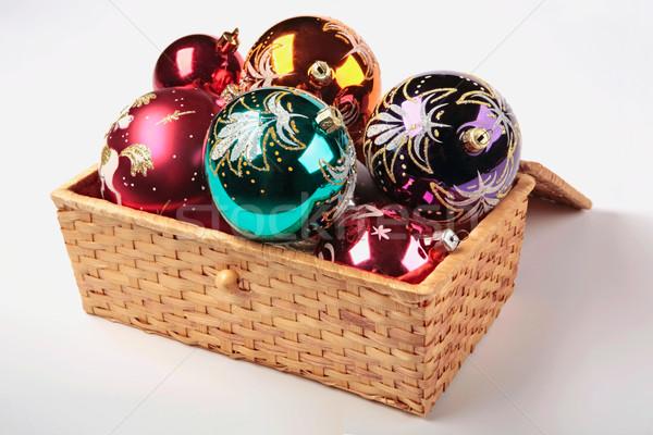 Stock photo: Christmas tree decorations