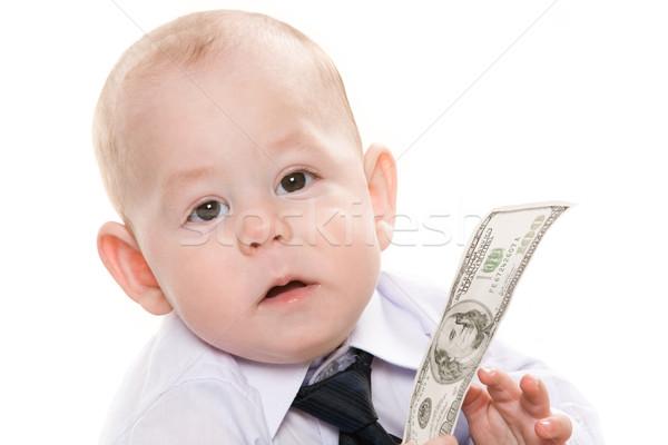Vagyonos fiú portré komoly baba dollár Stock fotó © pressmaster