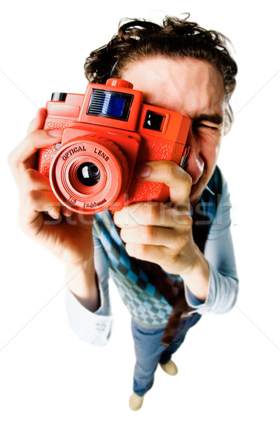 Funny photographer  Stock photo © pressmaster