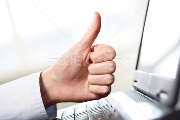 хорошие работу женщины стороны большой палец руки Сток-фото © pressmaster