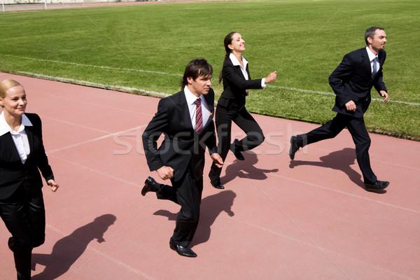 Concurrence photo gens d'affaires courir sport suivre Photo stock © pressmaster