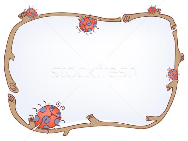 Coccinelle cadre fond carte graphique graphique Photo stock © pressmaster
