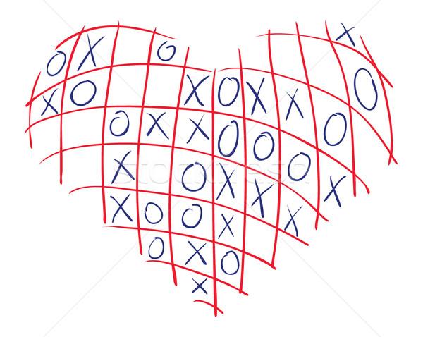 Heart-X-O Stock photo © pressmaster