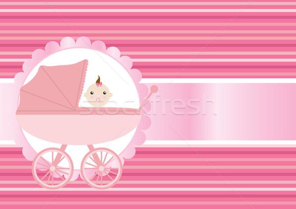 Kinderwagen roze pasgeboren meisje abstract kind Stockfoto © pressmaster