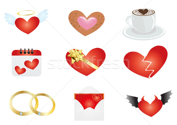 ünneplés szimbólumok kávé absztrakt festék levél Stock fotó © pressmaster