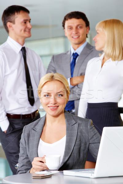 Happy employer Stock photo © pressmaster