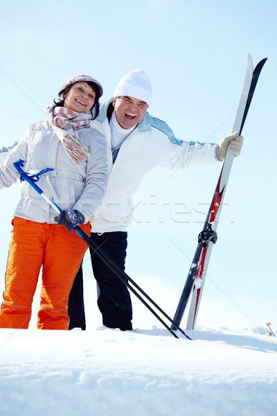 Olgun portre mutlu çift kadın aile Stok fotoğraf © pressmaster