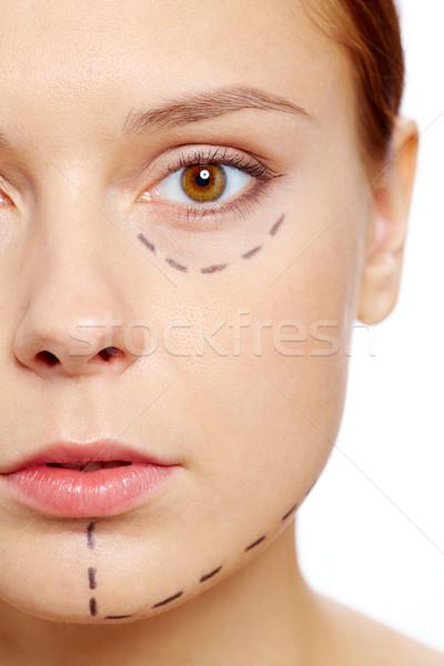 Botox vers vrouw gezicht naar Stockfoto © pressmaster