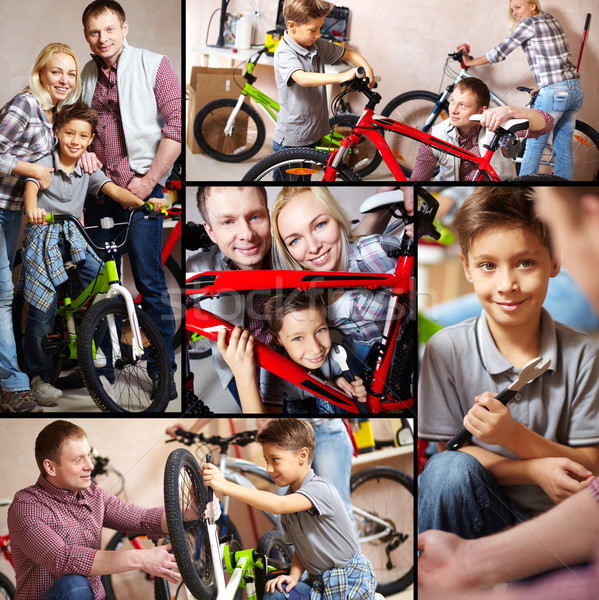 Family of bikers Stock photo © pressmaster