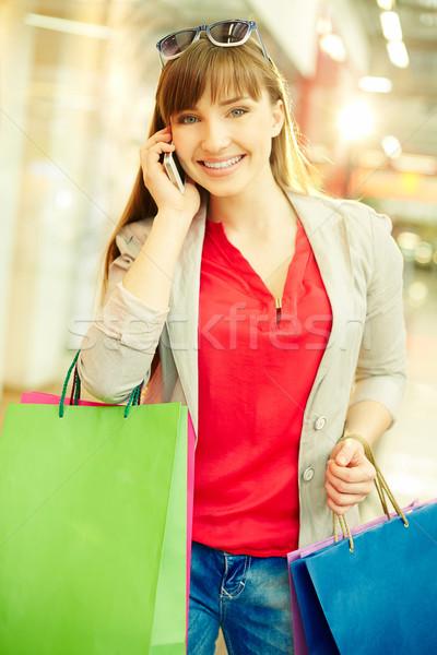 Shopper phoning Stock photo © pressmaster