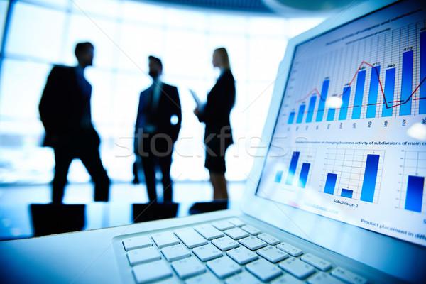 Photo stock: Document · portable · financière · trois · bureau
