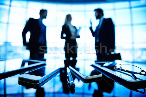 üzlet kommunikáció tárgyak kép szemüveg toll Stock fotó © pressmaster