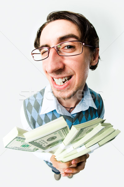 Riche homme photo heureux dollars Photo stock © pressmaster